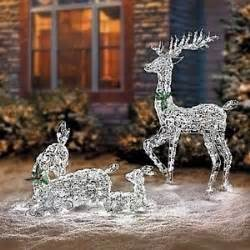 christmas lighted led reindeer family outdoor christmas decoration yard art ebay