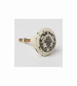 Bouton De Meuble : bouton de meuble baroque noir et blanc boutons ~ Teatrodelosmanantiales.com Idées de Décoration