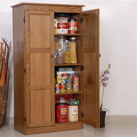 Wood Pantry Cabinet Multi Purpose Storage Cabinet Pantry Oak I Can Build