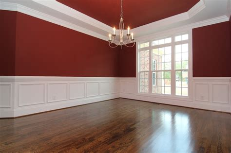 dining room  wainscoting traditional raleigh