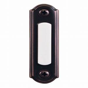 Hampton Bay Wired Lighted Door Bell Push Button