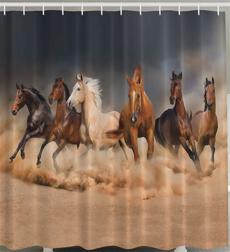 equine shower shower curtain fabric west horses stede
