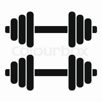 Dumbbell Icon Dumbbells Simple Silhouette Symbol Library