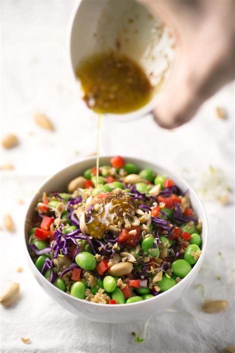 quinoa edamame salad simple vegan blog