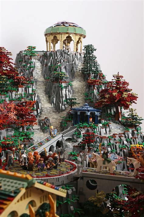 impressive lego build lotrs rivendell recreated