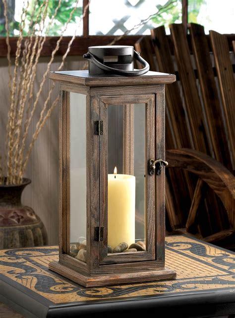decorative outdoor lanterns decorative candle lanterns large wood rustic outdoor