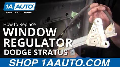 how to install replace rear power window regulator dodge stratus 01 06 1aauto
