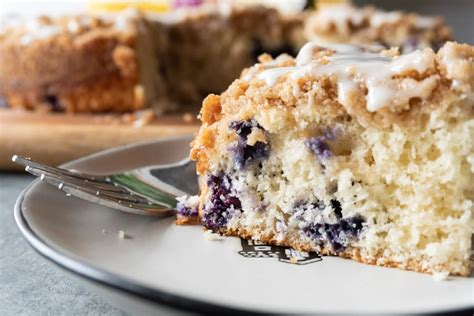 It makes a great treat for mother's day. Blueberry Coffee Cake • A Table Full Of Joy
