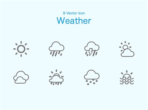 free weather icons sketch freebie free resource