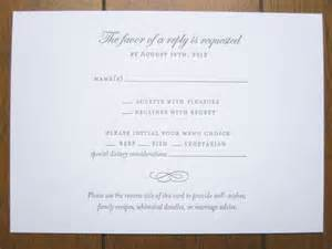 Wedding Invitation RSVP Card Wording