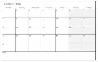 2016 Printable Calendar Templates Excel
