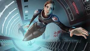 Art Space Ship Girl Boy Astronaut HD desktop wallpaper ...
