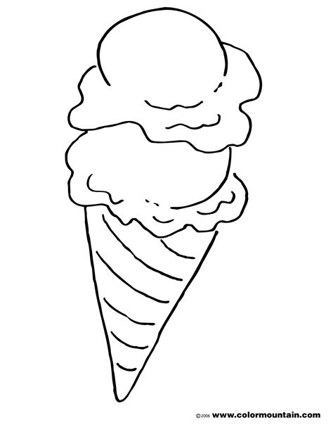 ice cream cone coloring page create  printout  activity