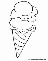 Coloring Cone Snow Pages Ice Cream Printable Getcolorings sketch template