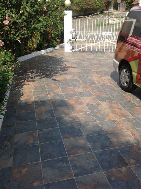 slate  outdoor tile driveway patio ceramic tile