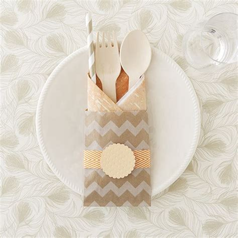 diy party utensil pockets fabulous party decor party
