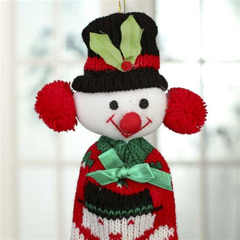 knitted christmas ornament on sale holiday crafts