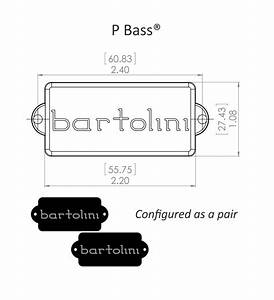 Bartolini 58su72 5 String P Bass Pickup  For Pj Set Up