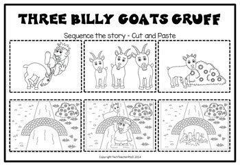 tale activity pack three billy goats gruff reading writing and sequencing - 3 Billy Goats Gruff Sequencing Worksheet