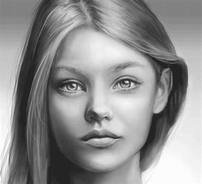 Face Sketch Faces Digitally Paint Photoshop Sketches