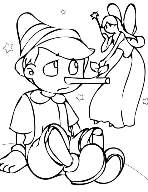 Free Coloring Pages by Free Printable Pinocchio Coloring Pages For
