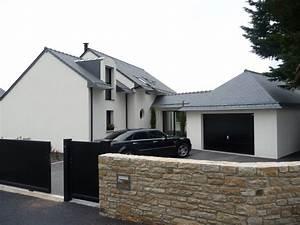 maison avec entree en facade pierre maison neuve a la With maison en pierre design