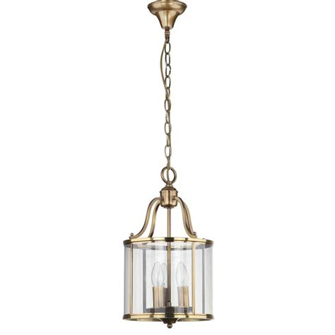 Safavieh Sutton Place 3light Brass Small Pendant With