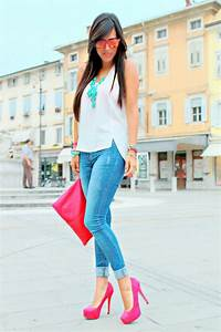 25 best images about Pink Shoes Outfit on Pinterest | Striped shirts Sarah jessica parker and ...