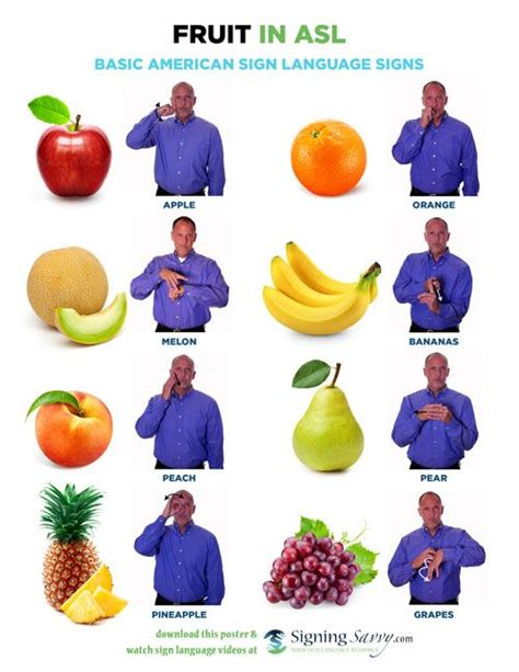 sign language for colors fruit in american sign language asl sign language