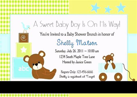 baby shower invitation templates  template