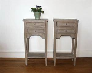 Pair, Small, Painted, Bedside, Tables, Sold