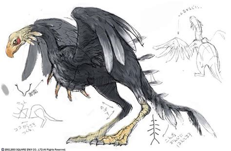 ffxi final fantasy xi monster concept art