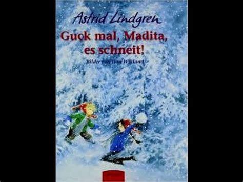 astrid lindgren guck mal madita es schneit bilderbuch