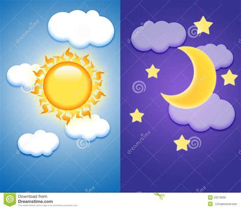 dibujos dia y de la noche d 237 a y noche stock de ilustraci 243 n imagen 53272839