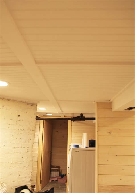 Our Basement Part 38 The Beadboard Ceiling Is White The