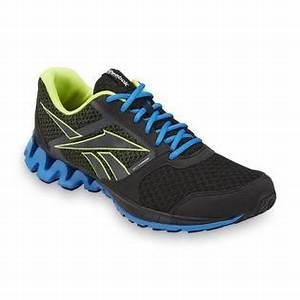 Reebok Men s Zigkick Alpha Black Blue Neon Green Running Shoes