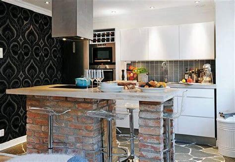 the brick kitchen island small kitchen remodel cost guide apartment geeks 6047
