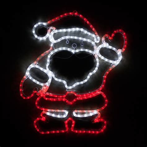 outdoor decoration  led waving santa red  white