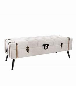 Bout De Lit Capitonné : banquette coffre bout de lit beige capitonn ~ Melissatoandfro.com Idées de Décoration