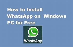 Whatsapp download for pc windows 7 professional 64 bit