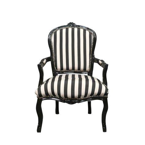 fauteuil louis xv tissu noir et blanc chaises et meubles