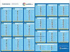 Calendario liga santander 2017 Printable 2018 calendar