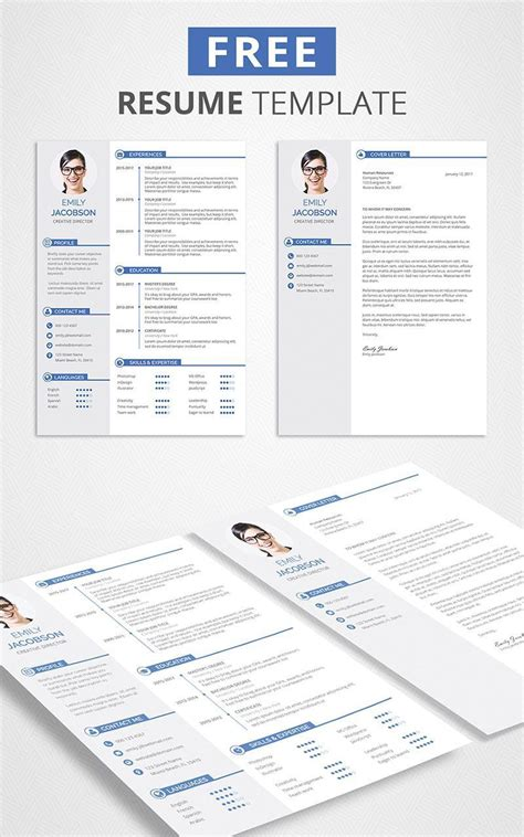 Resume Writing Tools Free by Free Cv Template And Cover Letter Grad Resume Template