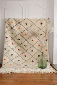 tapis marocain beni ourain en laine noir et blanc beni With tapis marocain laine