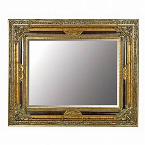 Large, Gold, Mirror, With, Black, Details, By, Out, There, Interiors