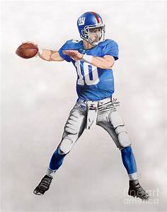 Ny Giants - Eli Manning Drawing by Chris Volpe