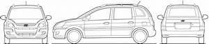 2009 Hyundai Matrix Minivan Blueprints Free