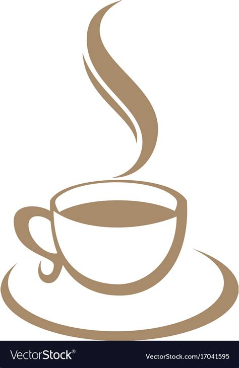 Coffee cup logo mockup psd. Coffee cup cafe logo Royalty Free Vector Image