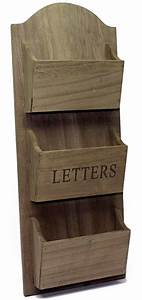 rustic wooden wall hanging letter holder rack ebay With hanging letter holder