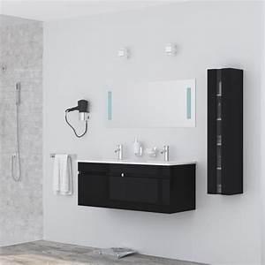alban ensemble salle de bain double vasque avec miroir l With porte d entrée pvc avec alban salle de bain complète double vasque 120 cm
